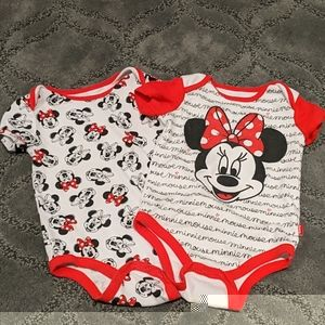 3 for $23! Minnie mouse onesies